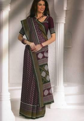 Saree Cambric Cotton Designer Prints With Blouse Piece D.No D1046