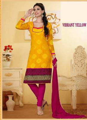 Divine Yellow and Pink  Salwar Kameez