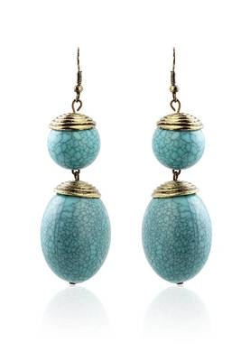 Just Women Blue Stone Funky Danglers