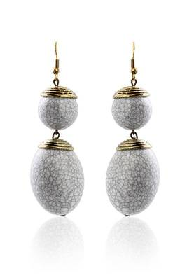 Just Women Grey Stone Funky Danglers