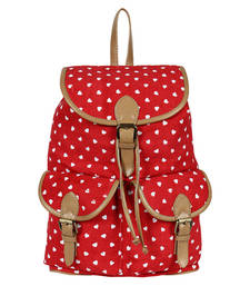 Buy Red canvas lucy backpack backpack online