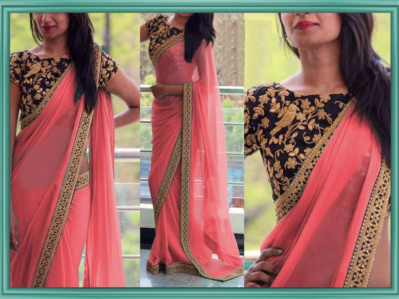 Image result for georgette sarees mirraw