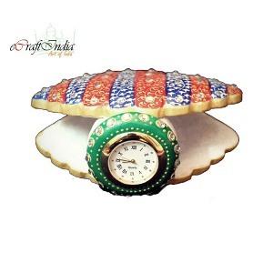 eCraftIndia Shell Clock