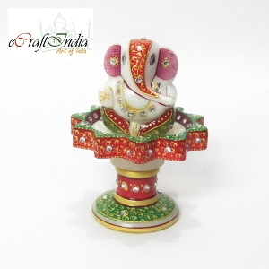 eCraftIndia Lord Ganesha on Marble Stand
