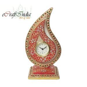 eCraftIndia White Crystal Trophy Clock