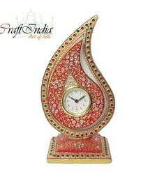 Buy eCraftIndia White Crystal Trophy Clock wall-clock online