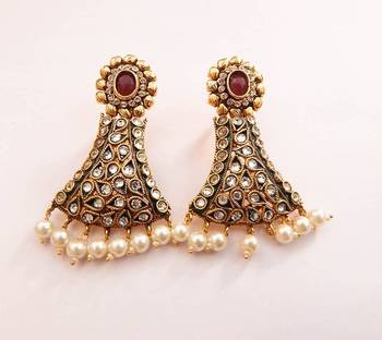 Floral Stud Bell Shaped Earring