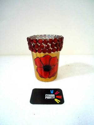 Poppy- hand-painted tealight holders