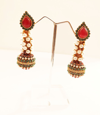Elongated ethnic earring