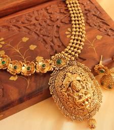 Divine Antique Green Lakshmi Necklace Set