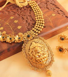 Divine Antique Black Lakshmi Necklace Set