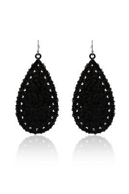 Just Women black color metal bohomeian earrings