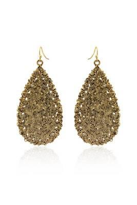 Just Women golden color metal bohomeian earrings