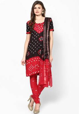 dfd685b4cf Bandhej Cotton Hand Work Dress Material - Rajasthani Sarees - 185720