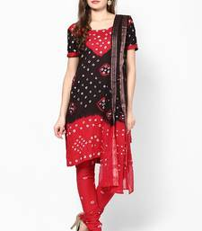 Buy Bandhej Cotton Hand Work Dress Material dress-material online