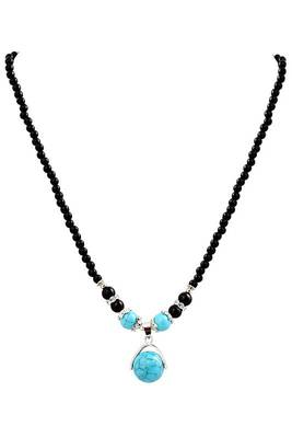 Just Women Genuine Turquoise Studded Beaded Necklace