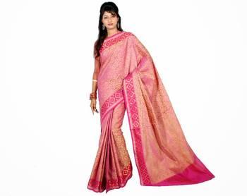 Cotton Tanchooi Banarasi Zari Border Saree
