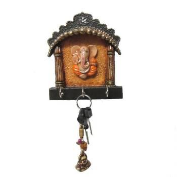 eCraftIndia Papier-Mache Key Holder with Lord Ganesha
