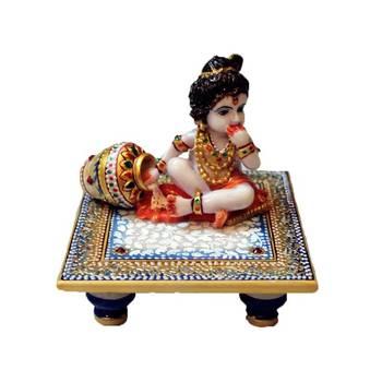 eCraftIndia Laddu Gopal on Blue Marble chowki