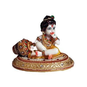 eCraftIndia Laddu Gopal eating Makhan