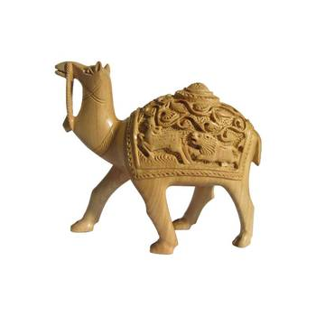 eCraftIndia Hand Carved Wooden Camel