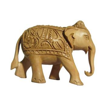 eCraftIndia Carved Wooden Elephant
