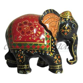 eCraftIndia Royal Red Painted Elephant Statue