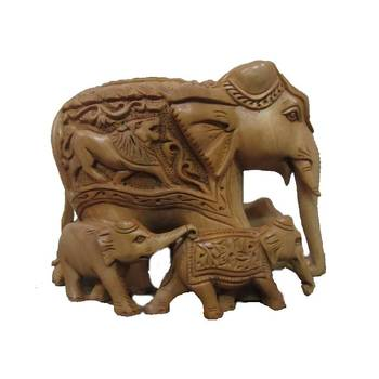 eCraftIndia Jumbo Elephant Family(Five)