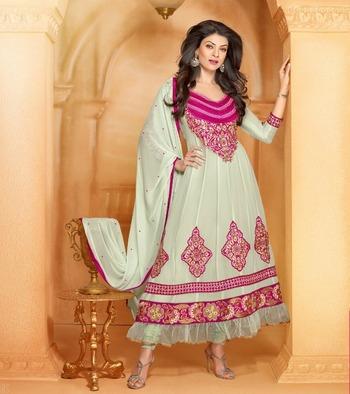 Sushmita Sen Fashionable Designer Anarkali.