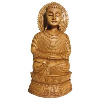 eCraftIndia Lord Buddha Meditating on Pulpit