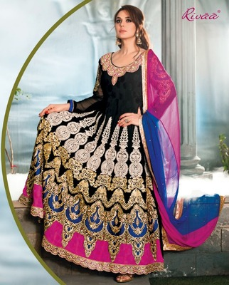 Priety Zinta Aweosme Anarkali Suit with Heavy Embroidery