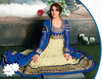 Priety Zinta Fashionable Floor Touch Anarkali
