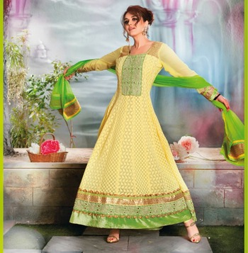 Priety ZInta Designer Long Anarkali Suit