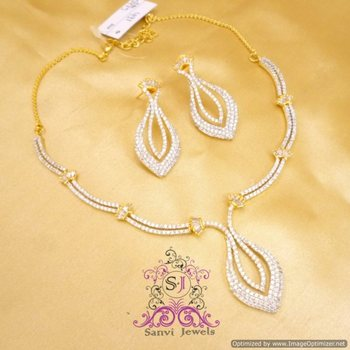 Gorgeous American Diamond Necklace Set