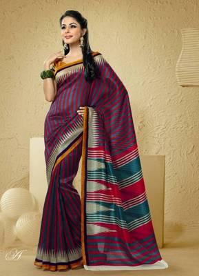 Bhagalpuri Khadi Silk saree  PF-5882A