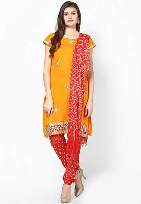 436f77d64 Kundan Stone Work Cotton Dress Material - Rajasthani Sarees - 186118