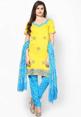 2f87b60d24 Hand Stone Work Dress Material - Rajasthani Sarees - 186120