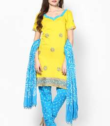 Buy Hand Stone Work Dress Material  cotton-salwar-kameez online