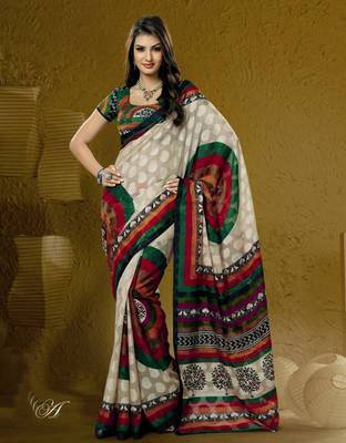 Bhagalpuri Khadi Silk saree  PF-5884A
