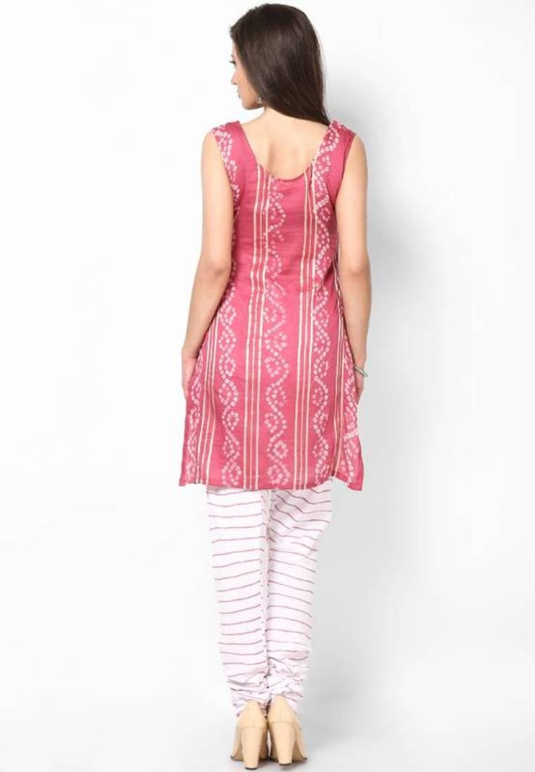 Buy Ethnic Lehariya Design Dress Material Online