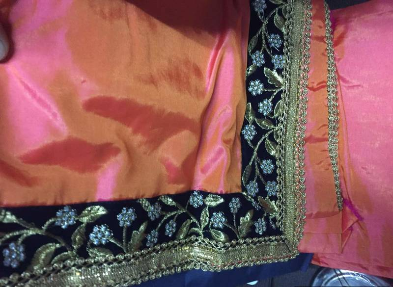 how to wear paper silk saree