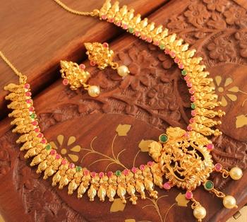 Beautiful Designer Lakshmi Necklace Set