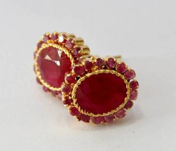 BEAUTIFUL RUBY RED STONE STUDDED TOPS FROM HYDERABAD JEWELS