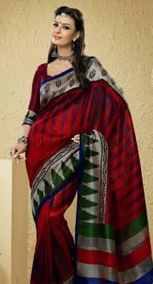Bhagalpuri Khadi Silk saree  PF-5887B