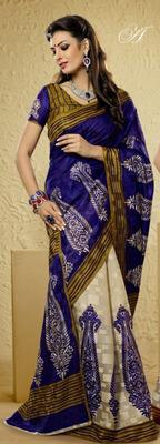 Bhagalpuri Khadi Silk saree  PF-5895A