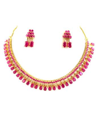 Beautiful Ruby Necklace Set