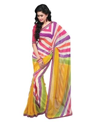 Triveni Elegant Colorful Geometrical Patterned Indian Designer Saree TSVF9812
