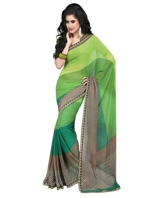 Triveni Smart Checkered Patterned Sleek Bordered Indian Designer Saree TSVF9833