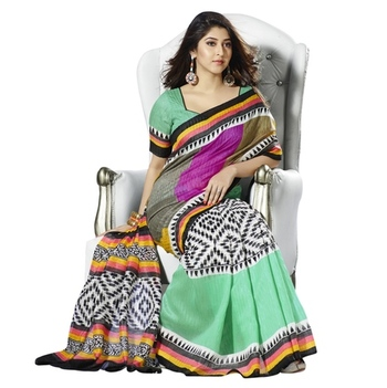 Triveni Adorable Abstract Patterned Bhagalpuri Traditional Saree TSVF10010