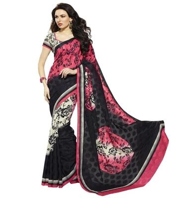 Triveni Vine & Polka Dots Motif Bhagalpuri Silk Traditional Saree TSVF10012